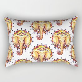 Elephant Mandala Rectangular Pillow