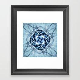 Kaleidoscope - Bath Plug Framed Art Print