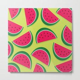 Juicy Watermelon Slices Metal Print