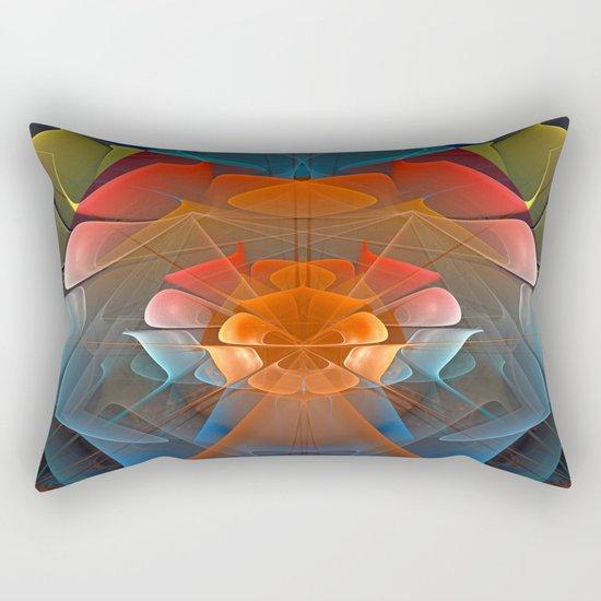 Colourful unfolding fantasy abstract Rectangular Pillow