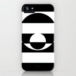 B&W Stripe Disco iPhone Case