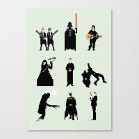 men Canvas Prints featuring Men in Black by Eric Fan