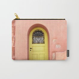 Orange House Front Door in Greece, Aegean and Venetian Architecture of Kythira Island, Travel Photography Carry-All Pouch