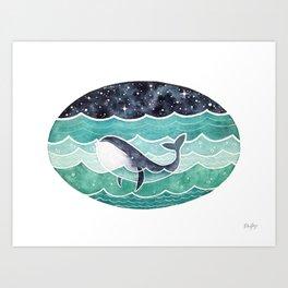 Wishing Whale Art Print