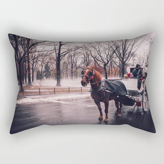 NYC Horse and Carriage Rectangular Pillow