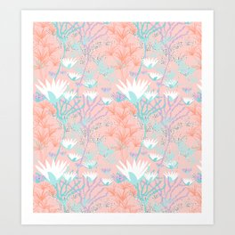 Lotus + Papyrus Garden Art Print