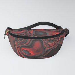 Red Dominant Gemstone Pattern Fanny Pack
