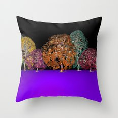 colors and trees Throw Pillow