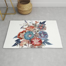 Morning Glories Flower Bouquet Rug