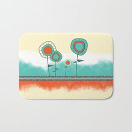 Four Wild Flowers Bath Mat
