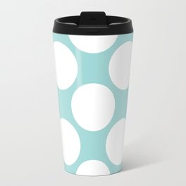 Polka Dots Blue Travel Mug
