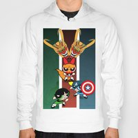 powerpuff girls Hoodies featuring Powerpuff Girls by milanova