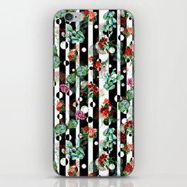 Cactus Flowers and Lines iPhone Skin