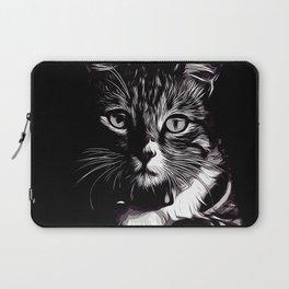 cat eyes vector art black white Laptop Sleeve