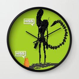 Alien vs Jonesy Wall Clock