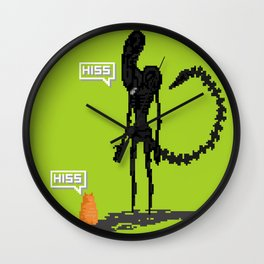 Alien vs Jonesy Wall Clock