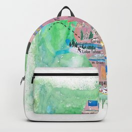 USA Nevada State Illustrated Travel Poster Favorite Map Backpack