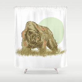 intruder Shower Curtain