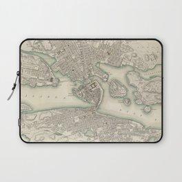 Vintage Map of Stockholm Sweden (1838) Laptop Sleeve