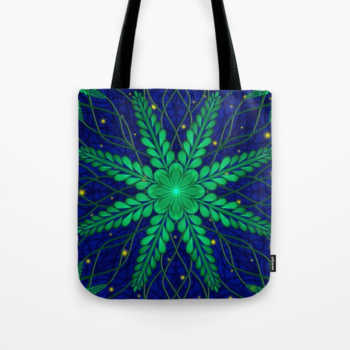 Web of Leaves and Light Tote Bag