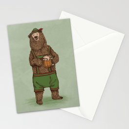 Traditional German Bear Stationery Cards