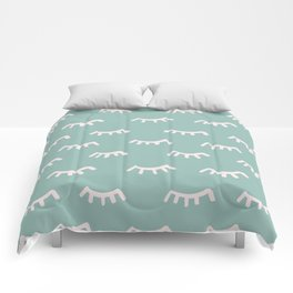 Mint Sleeping Eyes Of Wisdom-Pattern- Mix & Match With Simplicity Of Life Comforters
