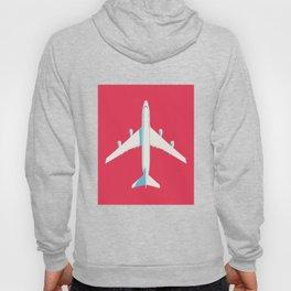 747 Jumbo Jet Airliner Aircraft - Crimson Hoody