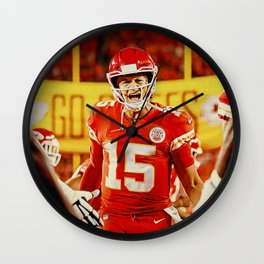 Chiefs and Mahomes Wall Clock