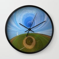 wind Wall Clocks featuring Wind by Sébastien BOUVIER