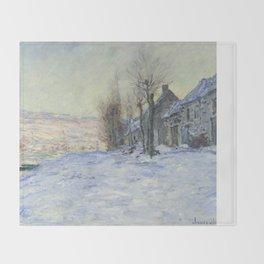 Lavacourt under Snow by Claude Monet Throw Blanket