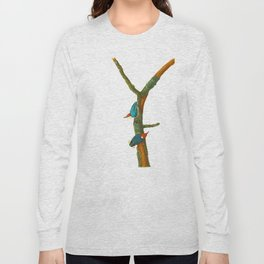 Turquoise Bird Long Sleeve T-shirt