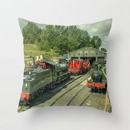 Bridgnorth Depot Throw Pillow