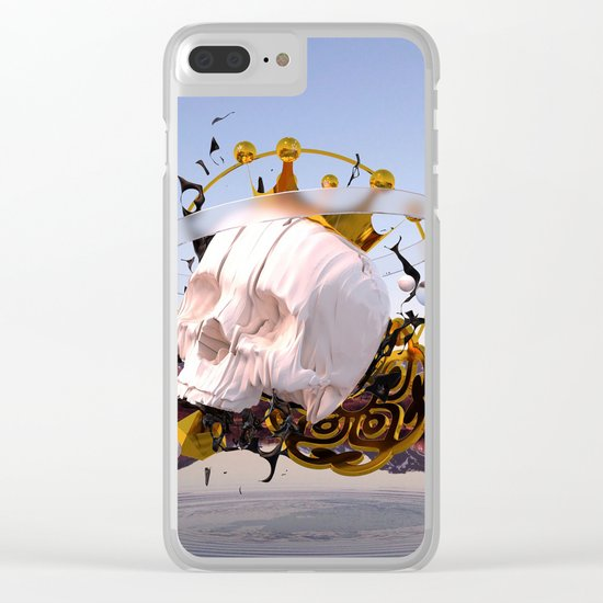 3D ABSTRACT - GOLD - GLASS - OIL - PORCELAIN Clear iPhone Case