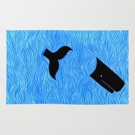 Whale in the Sea Rug