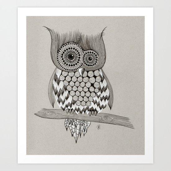 Rupert Owl Art Print