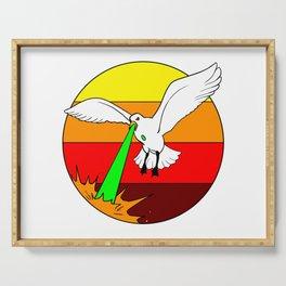 Laser Seagull Funny Retro Seagull Design Serving Tray