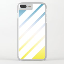 Gradient White Stripes Clear iPhone Case