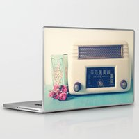 radio Laptop & iPad Skins featuring Retro Radio by Olivia Joy StClaire