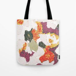Abstract floral camouflage Tote Bag