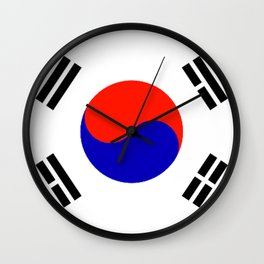 South Korean Flag Logo Wall Clock