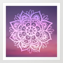 Sunset Sky Mandala Art Print