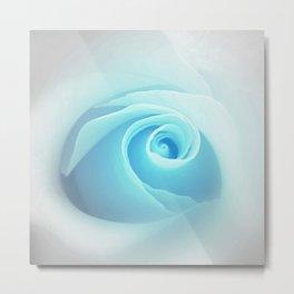 Baby Blue Rose Metal Print