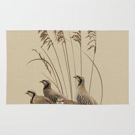 Chukar Partridges Rug
