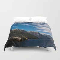 new zealand Duvet Covers featuring New Zealand by Michelle McConnell