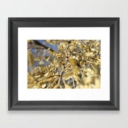 Loving Leaves Framed Art Print