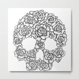 Skull of Roses Metal Print