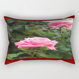 Pink Roses in Anzures 5  Blank P5F0 Rectangular Pillow