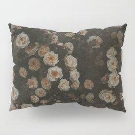 Midnight Dark Floral Grunge Pillow Sham