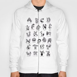 A to Z animals Hoody