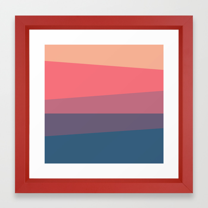 Red Blue Color Palette Framed Art Print By Artsimo Society6